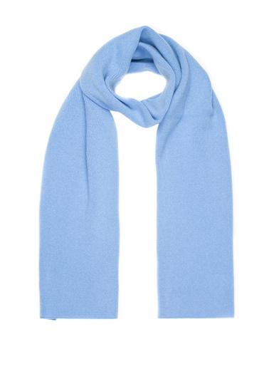 Silk and Cashmere Atkı Mavi